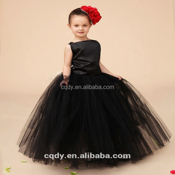 aec054648a3f Children Black Cotton Frocks Design For Flower Girls Summer Party ...