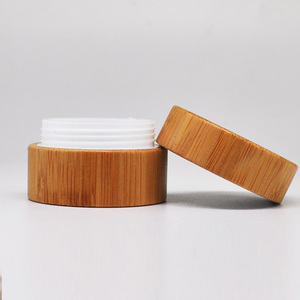 Natural bamboo bottle cosmetic skin care jar wood with pp gasket