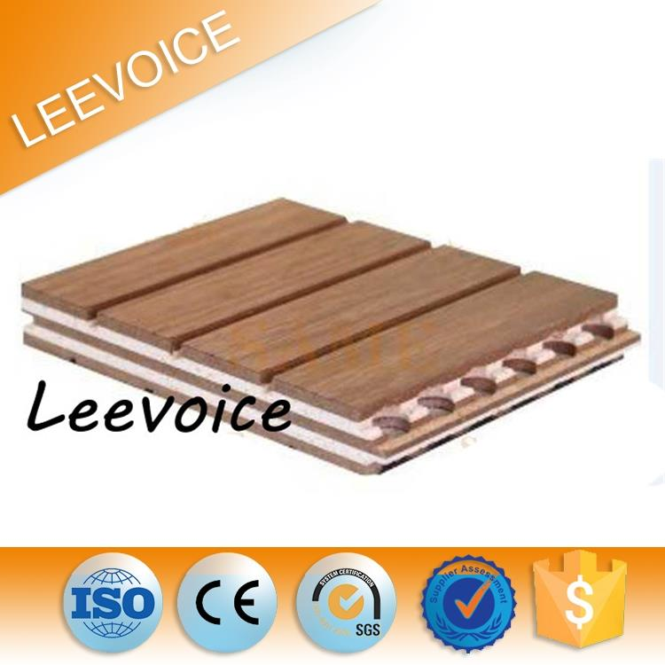 Other Diffuser Interior Wooden Grooved Acoustic Panel with E1 MDF