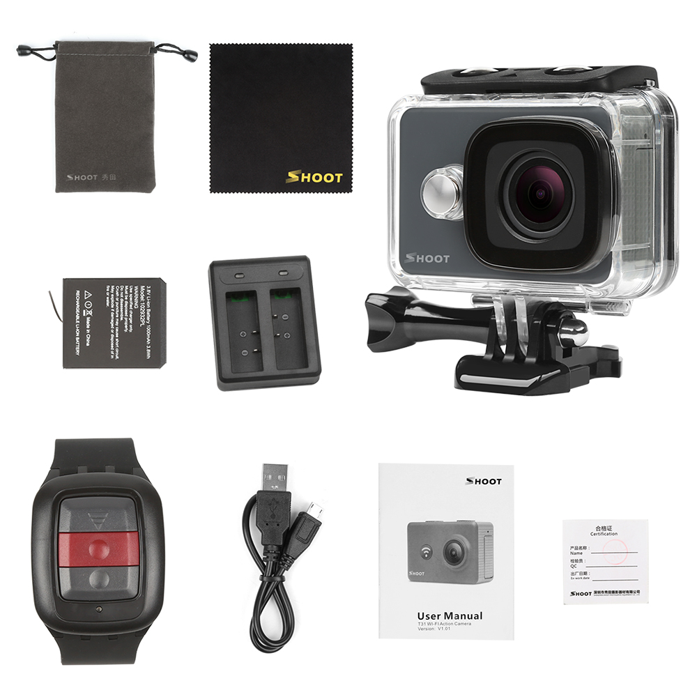 Shoot Wifi Mini Action Camera 1080p Hd Similar To For Gopro Hero 6 5 Package Content Xtgp436b