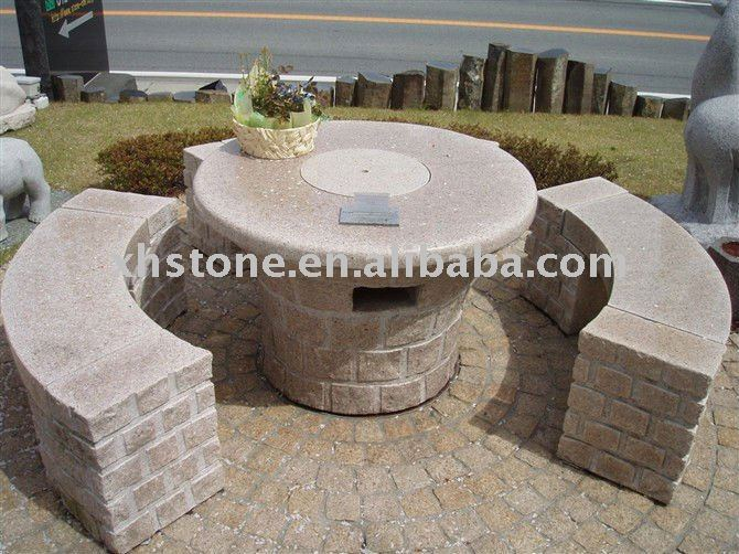 Outdoor furniture taman hias tangan diukir granit meja for Piedras decorativas jardin baratas