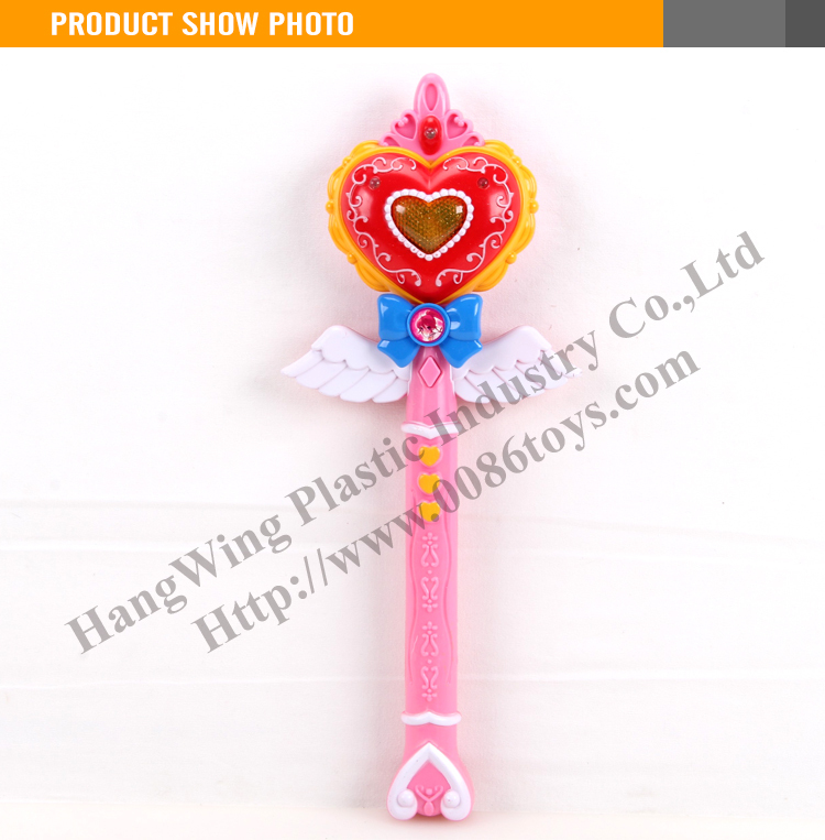 Funny plastic toy 32CM led flashing light stick with light and music