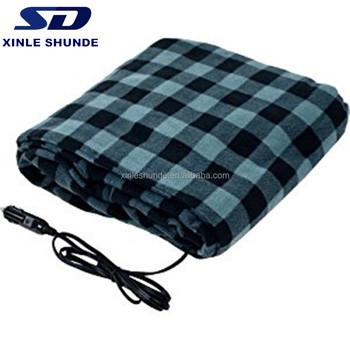 12 Volt Car Travel Electric Blanket For Kids Oldman Using