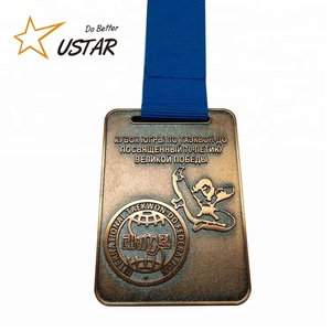 2018 Hight Quality Custom Antique Bronze Sport Award Metal Medal ,Custom Engraved Metal Medal With Ribbon