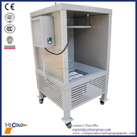 Manual batch Lab Electric motors driving exhaust fans cartridge-filter powder coating system