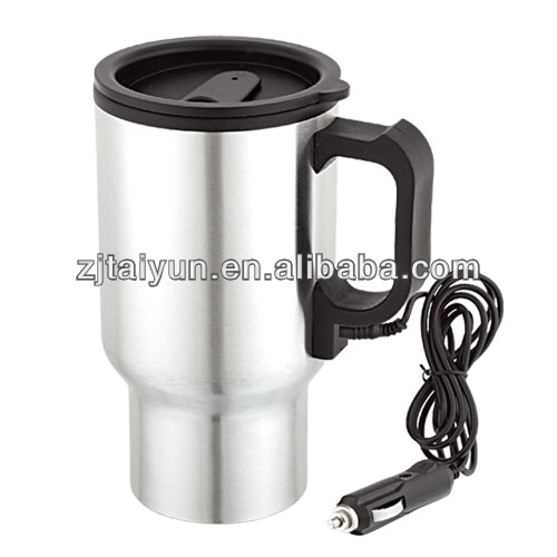 2013 new style hot pupular double wall stainless steel car plug electric travel mug