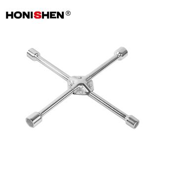 Honishen 4 Way Car Wheel S Wrench Brace Spanner