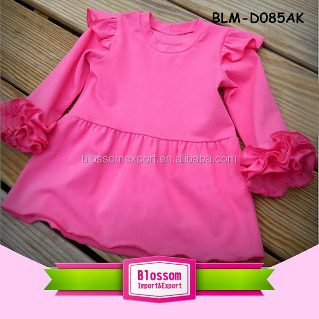 cb48d450ff4 Middle aged women fashion frock shoulder ruffle infant boutique dress baby  one piece kids party jumper