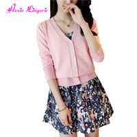 Top Selling pink long sleeves women cardigan knitted with bottons