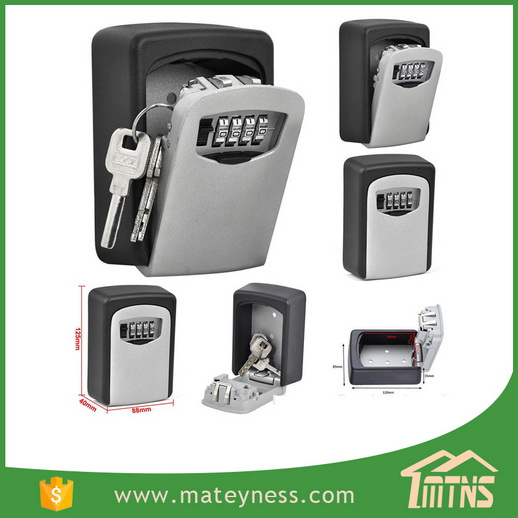 Wall Mount Holder 4 Digit Combination Key Safe Storage Lock Box