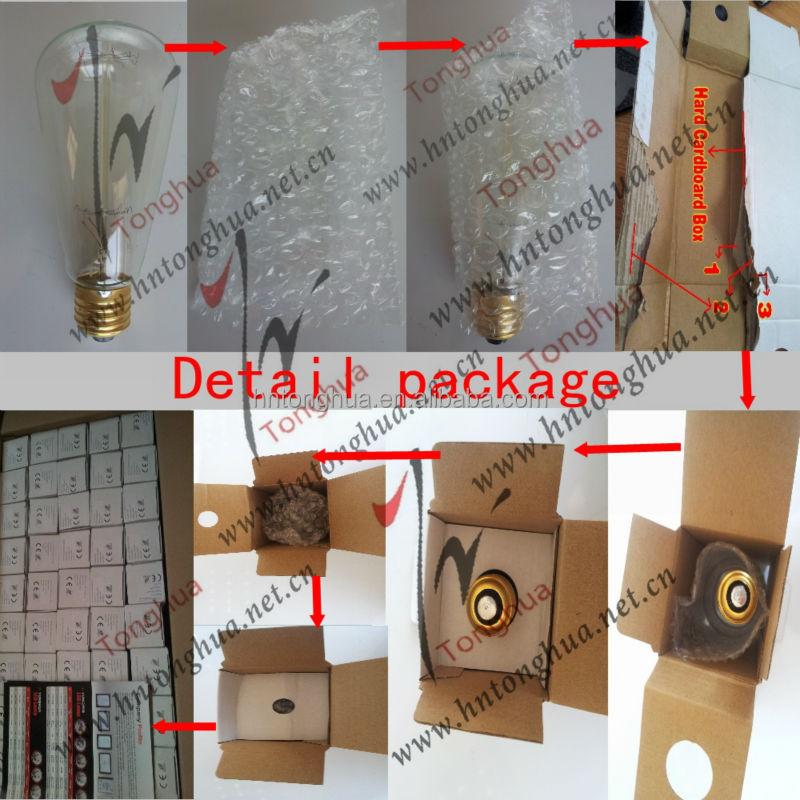 Thomas Edison Bulb Retro Vintage Light Bulb Tungsten Filament ...