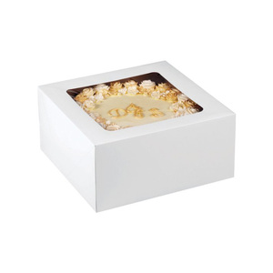 White cardboard boxes for cake/pizza packaging manufacture