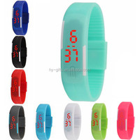 wholeale colored unisex silicone led watch fashion cheap silicone watch