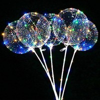 "Christmas new decoration 18"" transparent helium bobo balloon + LED string lights decorative ball"