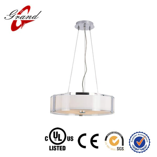 Adjustable clear cord round acrylic shade hanging& pendent lamp