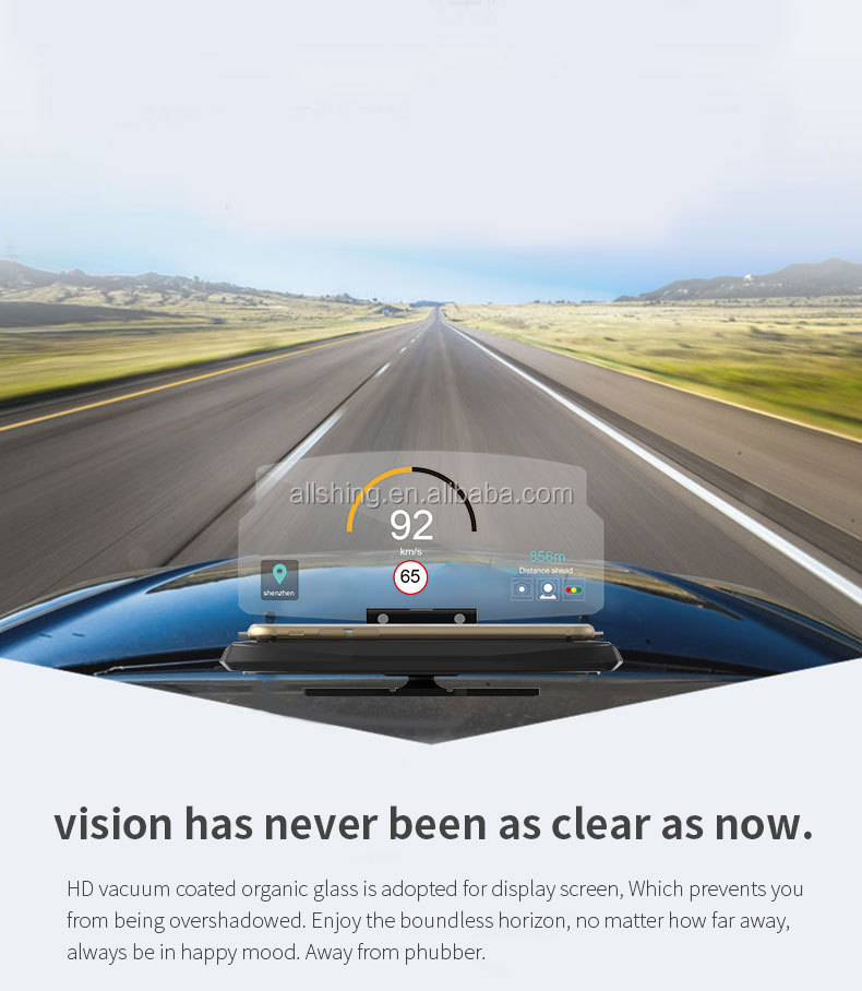 Wholesale Hot Selling 5.5 inch Multi Color Car HUD OBDII Windshield Projector Head-Up Display