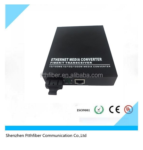 10/100M base SC port fiber single mode fiber meida converter