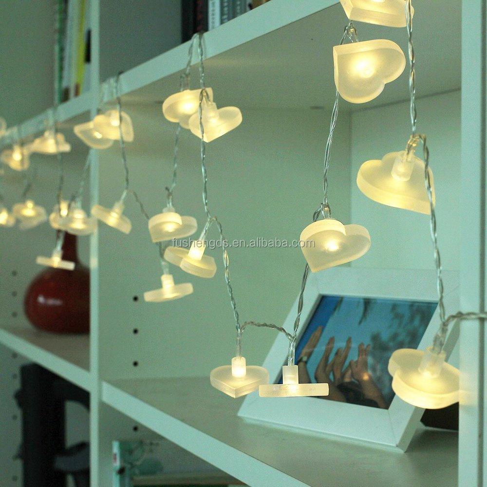 indoor christmas lighting. Battery Led String Lights,3M/30 Bright Heart Indoor Christmas Light Fairy Lighting