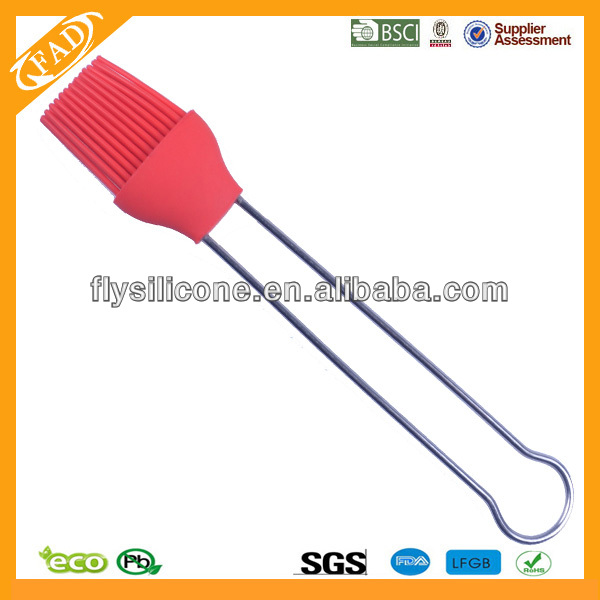 Won't Frizz Food Grade Silicone Bbq Grill Brush/Heat Resistant Oil Basting Brush