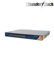 Industrial 28-port rack mount managed Gigabit PoE Ethernet switch with 24x10/100/1000Base-T(X) P.S.E. and 4x1000Base-X, SFP sock