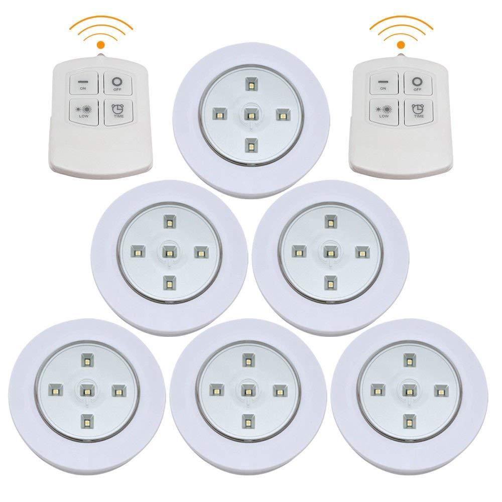 Enjoygous 6 Pcs Wireless Led Puck Lights Kitchen Under