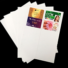Printable A4 Rigid Dark Silver PVC Plastic Sheets 0.3mm Thickness Sheets For Card Making