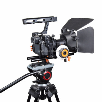 Best Handheld Dslr Video Camera Rig Grip Cage Kit With Matte Box 15mm Rod  Rig Kits For Sony A7/a7ii/a7s/a7r/a7rii Panasonic Gh4 - Buy Dslr Video
