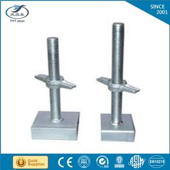 255mm base jack nut adjustable screw jack post 255mm base jack nut
