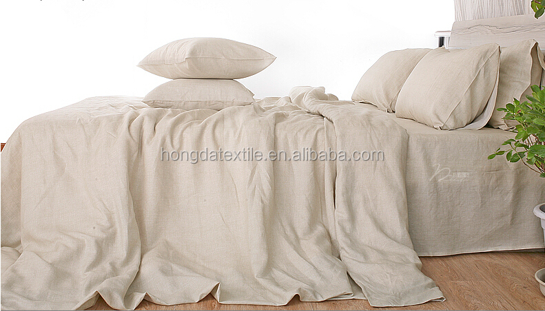 natural linen bed sheets,stone washed belgian linen bedding set