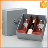 Custom logo print cardboard red wine and wine glasses gift box