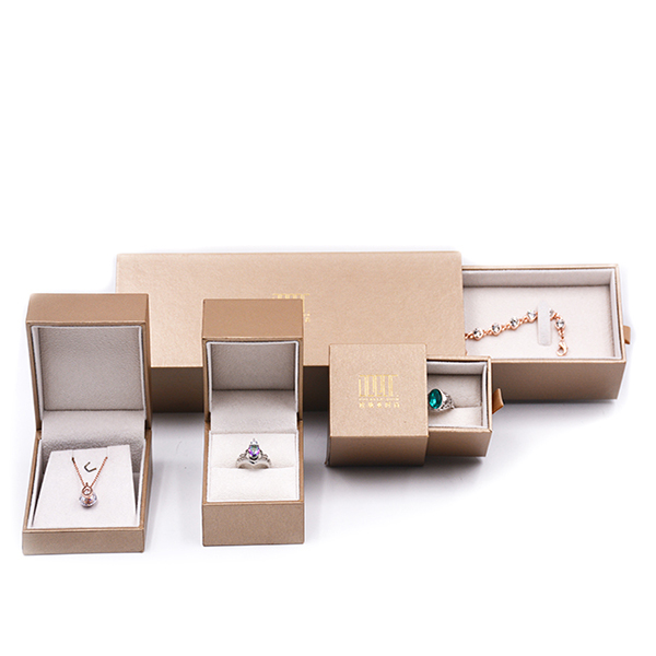Wholesale custom golden box for jewelry, jewelry packaging box,fancy paper plastic jewelry packing set