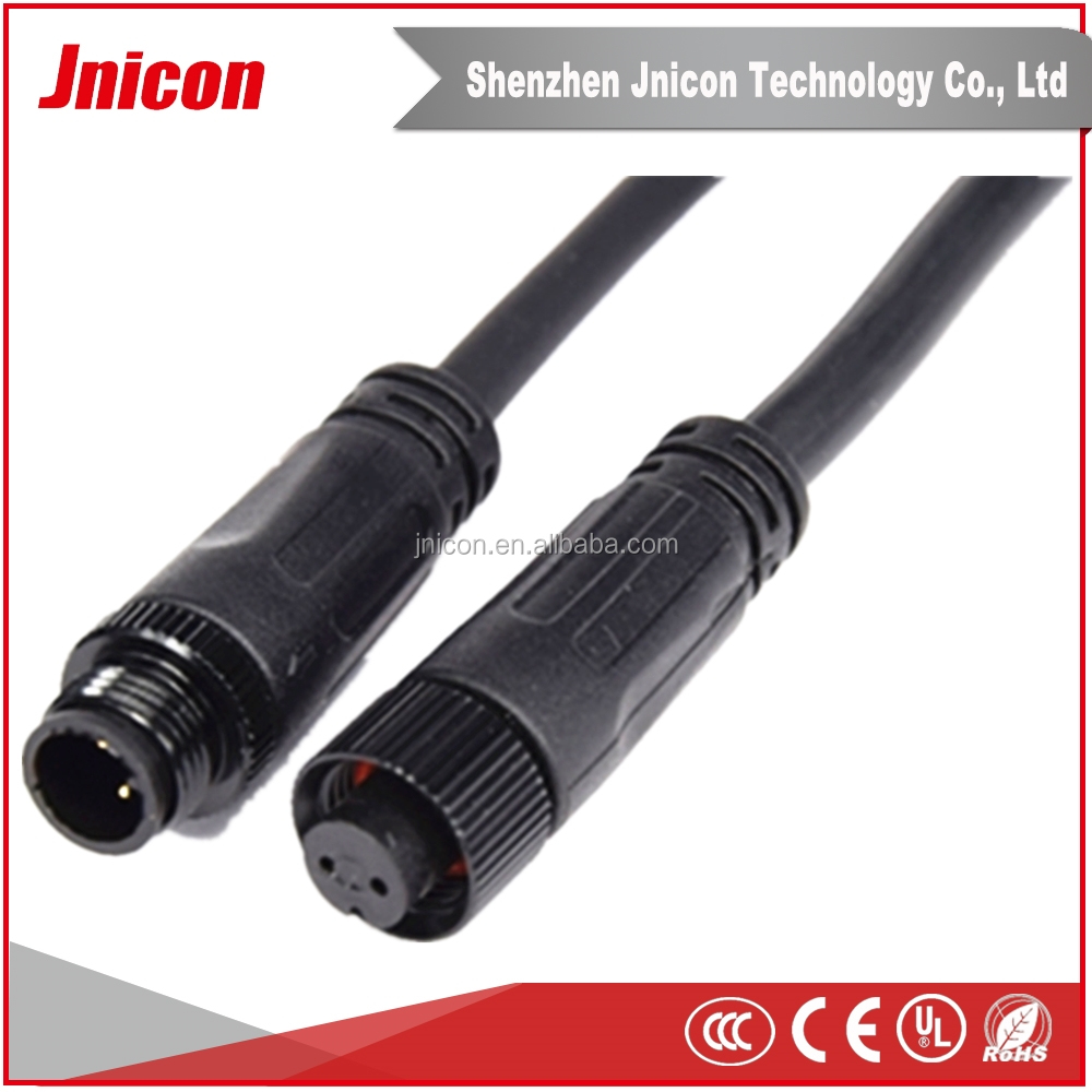 12v Ip65 Waterproof Mini Connectors Diameter 12mm 2pin Auto Electric ...