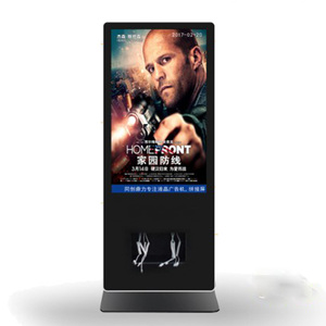 55 inch with cell phone charging station high resolution full colour video display floor standing led advertising screen
