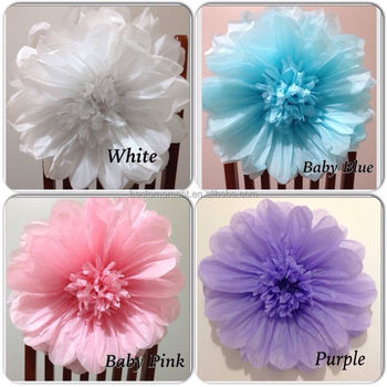 Large Purple Tissue Paper Flowers For Wedding Flowers Events Wall
