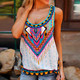 Ladies tops latest design fashion sleeveless vest printed blouse women