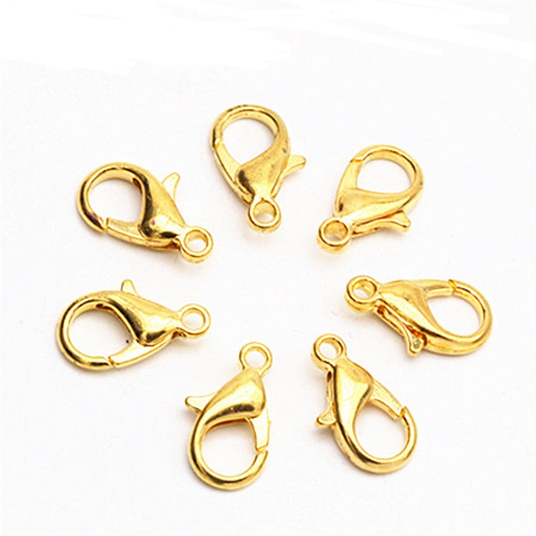 Stainless Steel Jewelry Clasps Hooks 12mm Silver Gold Bronze Color Lobster Clasp Findings For Diy Bracelets Necklaces Making