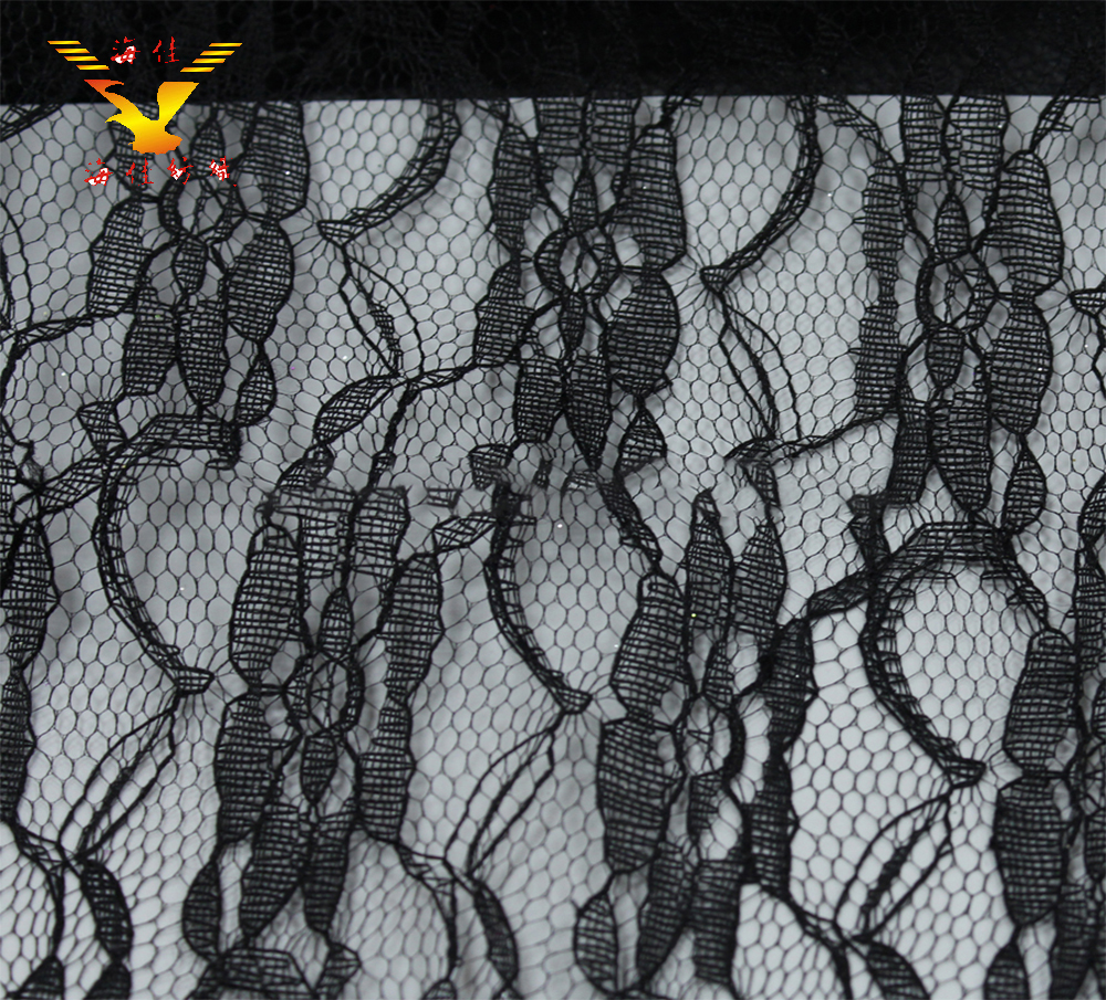 black floral embroidered korean tulle lace fabric for dresses decorative