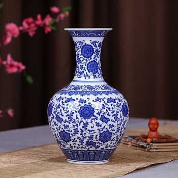 Wholesale Antique Blue And White Chinese Ceramic Flower Vase Buy