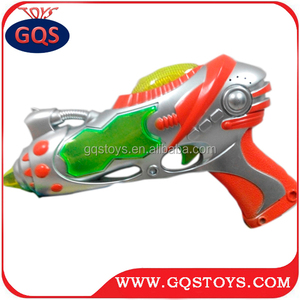 New flash light space 8 sound projection gun toy