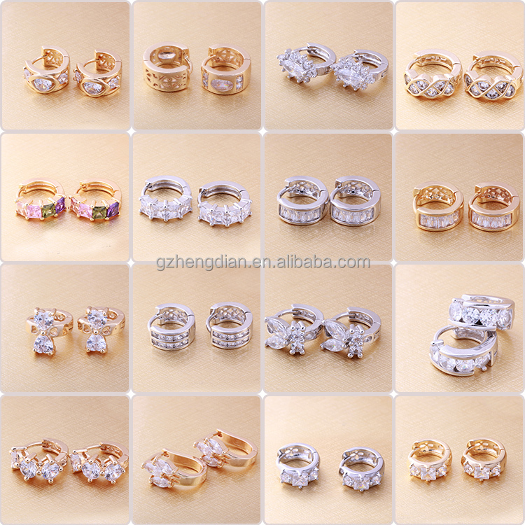 Newest Korean Design Eco-friendly gold earring designs for women ...