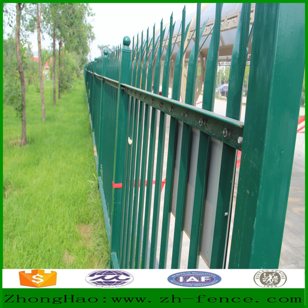 PVC coated palisade fence and fence gate directly sale from factory