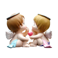 Small Cute Angel Resin Girl and Boy Figurine