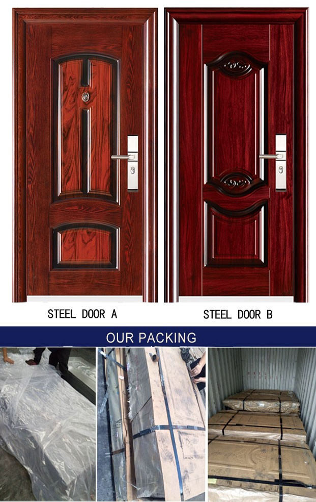 0.7/0.8/0.9mm embossed metal stamped steel door sheet zinc alloy sheet lowes door skin