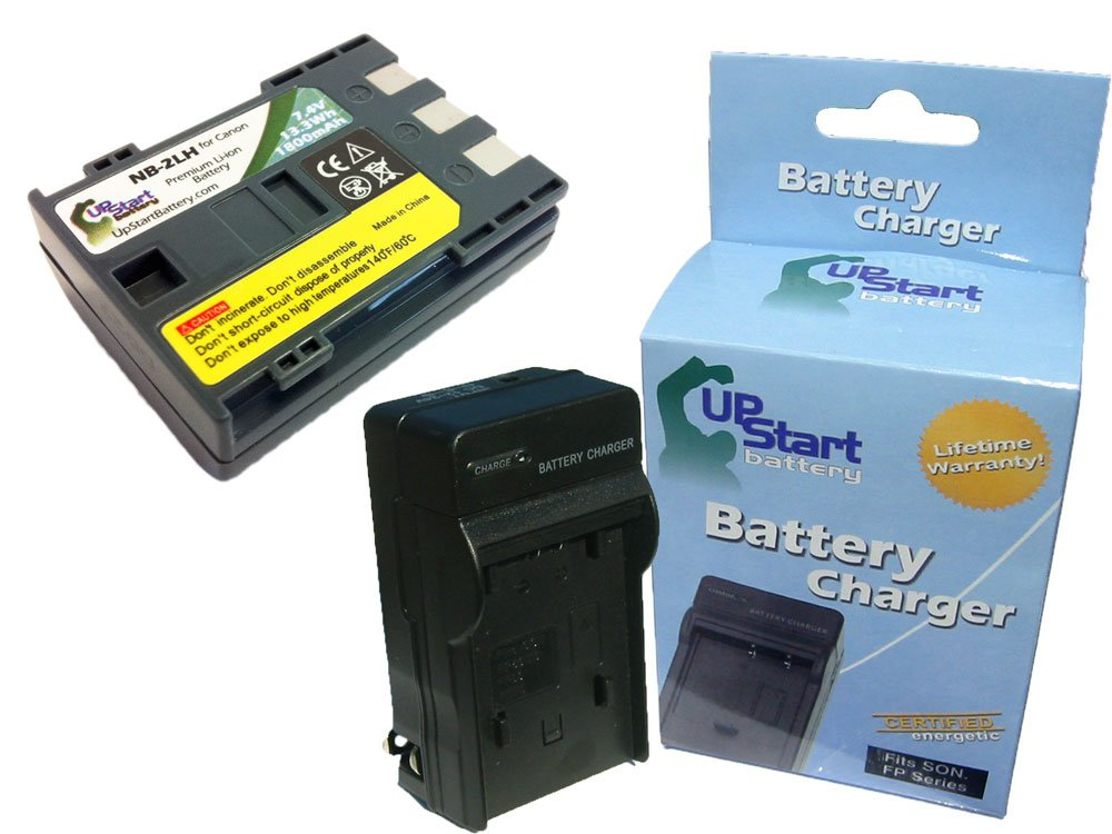 Replacement Canon NB-2LH E160814 Battery and Charger - Replacement for Canon NB-2LH Digital Camera Batteries and Chargers (1800mAh, 7.4V, Lithium-Ion)