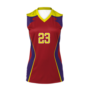Sublimated sports volleyball jersey uniforms custom volleyball jersey design