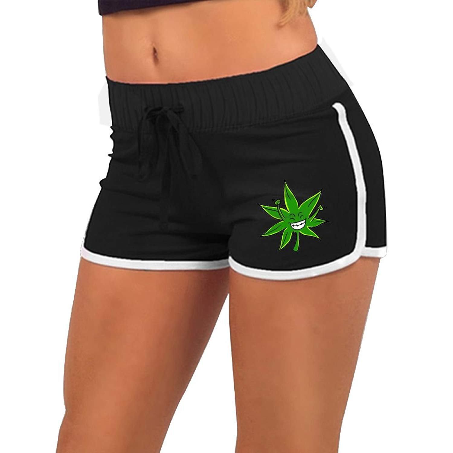 1da1b98336 Get Quotations · Uneomsek Pineapple Express Weed Leaf Women Sexy Hot Shorts  Solid Athletic Shorts Comfy Fitted Low Waist