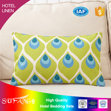 Hotel linen/Hand -painted beauty square hotel cushion