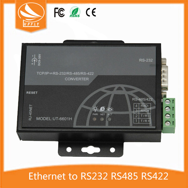 UT-6601H High Perfermance Industrial 10/100M Fast Ethernet 1 RJ45 Port to 1 Serial Port RS232/RS485/RS422 Module