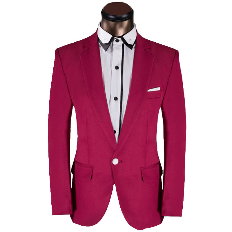 2015 New Arrival Men Suit Fashion Design Dark Pink Mens Slim Fit Prom Tuxedo Suits With Pants Groom Party Wedding Suits For Men