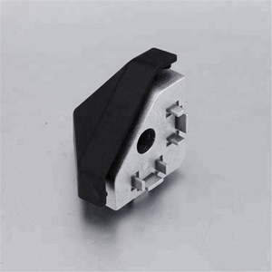 335.0102A.01Aluminium profile t slot die-cast Zinc T-Slot Aluminum 3 Way - Rounded Corner bracket 40x40 metal corner connector
